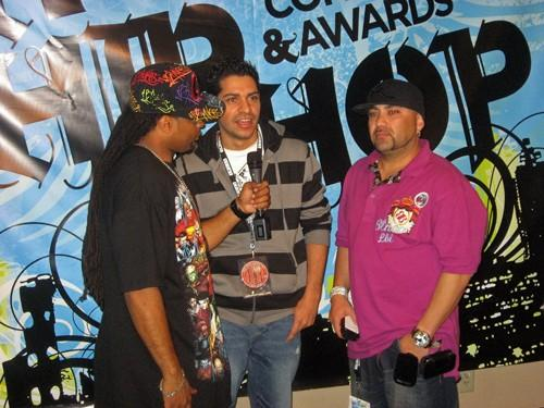 BEING INTERVIEWED AT THE BILLBOARD AWARDS