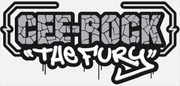CEE-ROCK ''THE FURY'' (Logo White Banner - Cropped) [Large]
