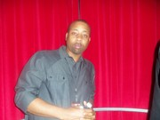 Chilling  at Bobby V listening party March 2011