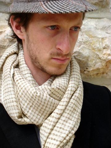 Nogaya Hand woven Peace Silk Scarf