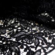 Modespitze Germany - lace allover - organic cotton - black