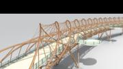 Helix Bridge Copper Render