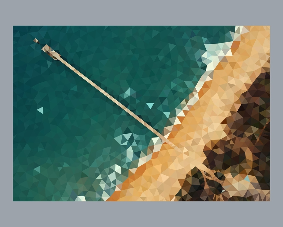 Low Poly Beach view