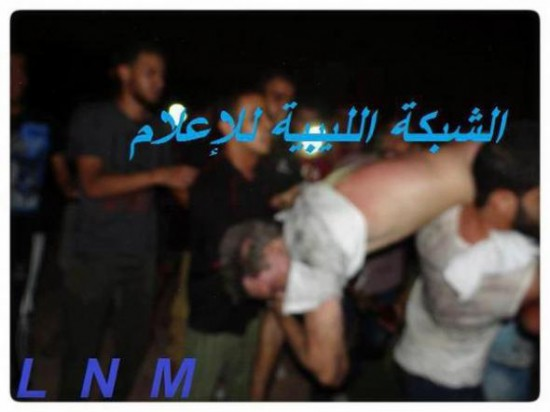 US-Ambassador-to-Libya-being-carried-through-streets-110912