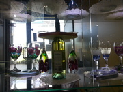wine glass in folkart