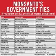 Monsanto's Government Ties