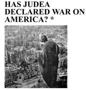Has Judea Declared War on America?