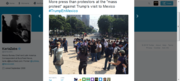 """More press than protestors at the """"mass protest"""" against Trump's visit to Mexico"""