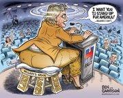 New Ben Garrison Cartoon- Hillarys Stool