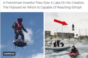 A Frenchman Inventor Flew Over A Lake On His Creation,