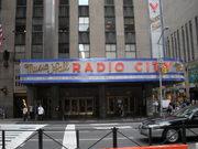 Daytime shot outside Radio City Music Hall