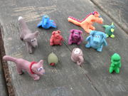 sculpey critters, made at farm camp
