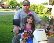 Ally and I on suzuki motorcycle