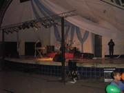 Este es el escenario donde tocamos con la banda