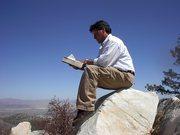Meditando en la cima de la montana, California