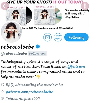 """REBECCA LOEBE.. TV SHOW """"THE VOICE"""" YOUNG GIFTED THX YOU #1LOVE"""