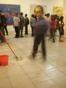 cleaning service,interactive performance arts.sangkring arts space.indonesia.2009