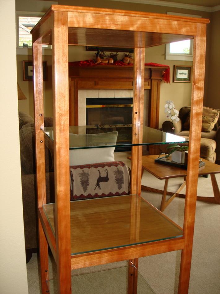 Tall Cherry Display Shelf