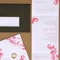 Island Dreams Letterpress Wedding Invitation Design