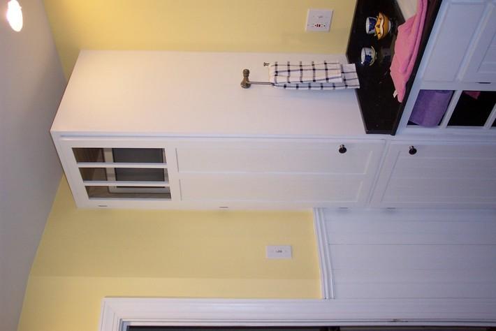 Left linen cabinet