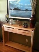 Maple and Walnut Burl Sideboard