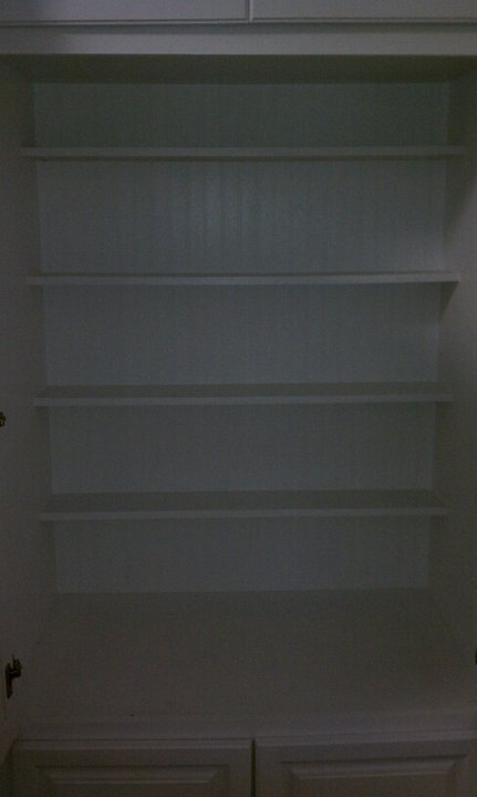 pantry with back shelves