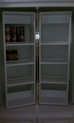 swinging shelves installed in pantry