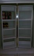 swinging shelves installed in pantry
