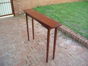 hall table with subtle curves