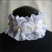 ANTOINETTE Art Textile Necklace