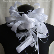 SWAN LAKE Victorian inspired Bridal Textile Summer Scarf