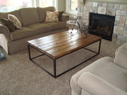 Coffee Table from Reclaimed Lumber and Steel