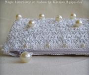 MOONLIGHT SONATA Bridal Crocheted Pouch