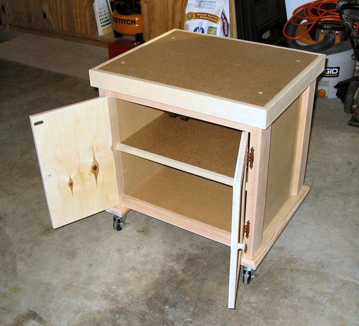 Rolling Shop Cart Storage View
