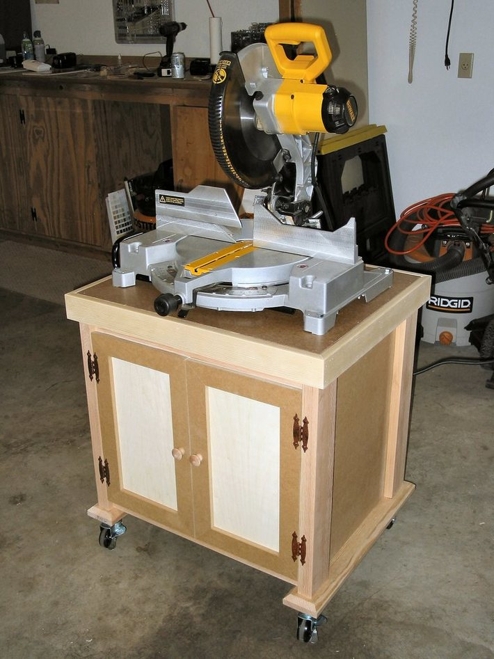 Rolling Shop Cart with Saw