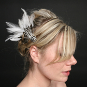 Feather Fascinator Hair Snaps by Artistic Edition