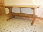 Cherry trestle table