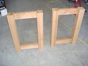 Legs with side bracing using Kreg jig