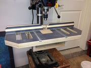 Close up of new drill press table.