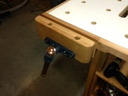 Face vice on new workbench.