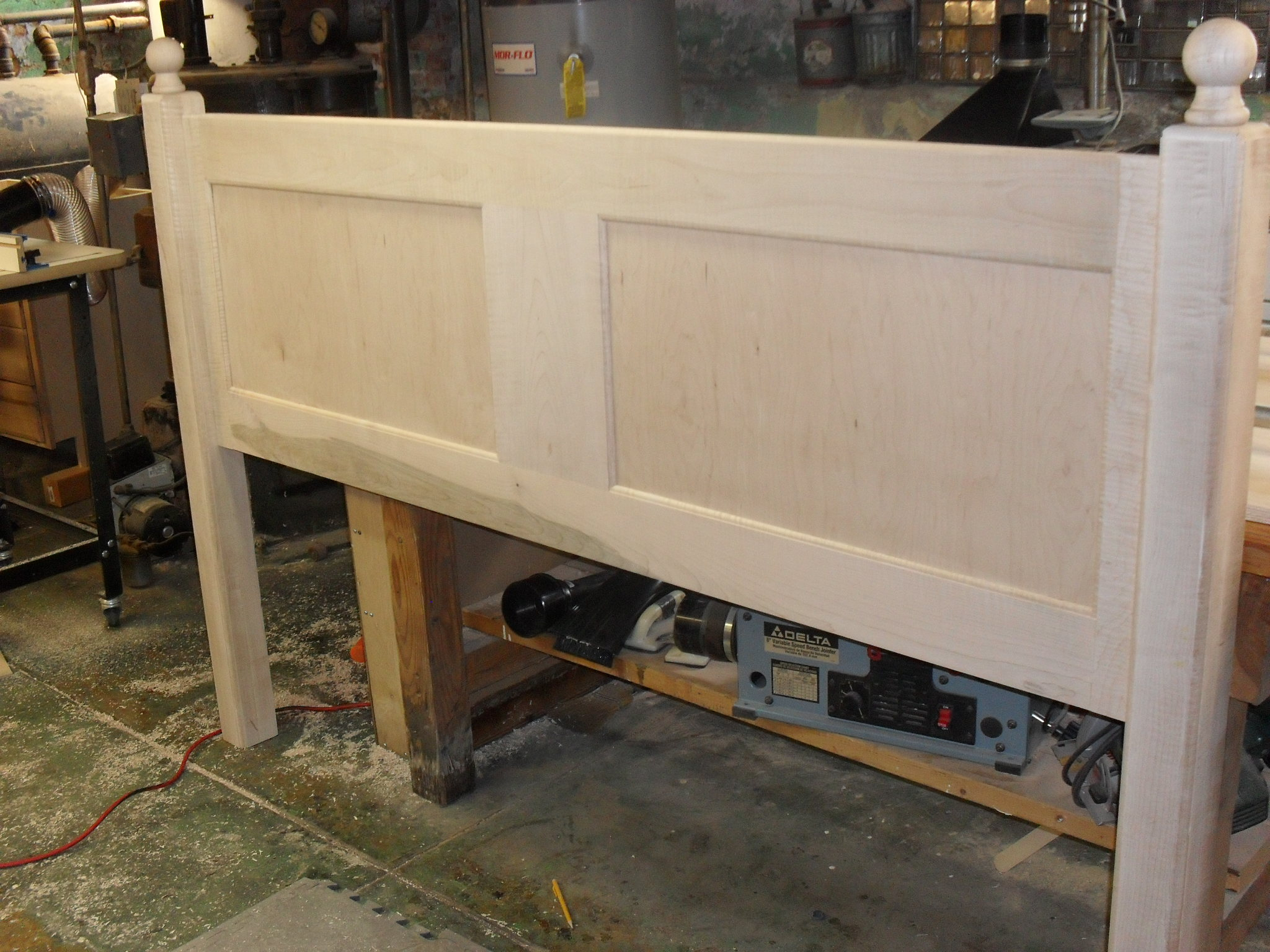 Curly Maple King Size headboard