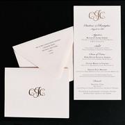 Janssen Letterpress Wedding Invitation Design