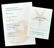 Key West Letterpress Wedding Invitation Design