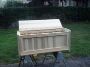 Window bench with storage