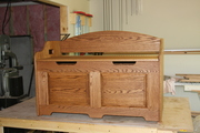 Grandson's Oak toy chest