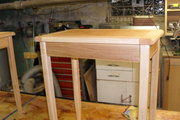 Tapered leg end tables