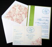 Milian Letterpress Wedding Invitation Design