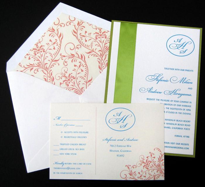 Milian Letterpress Wedding Invitation Design - Gallery Display