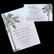 Oasis Letterpress Wedding Invitation Design