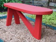 3 legged garden bench